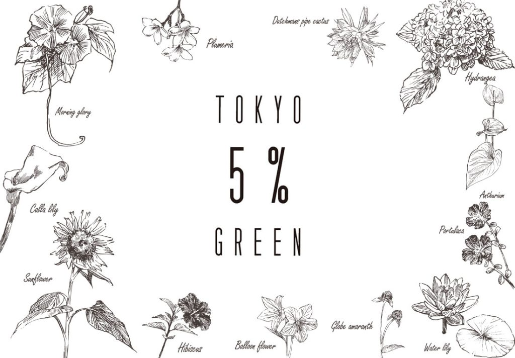 夏こそ『TOKYO 5% GREEN』プロジェクト!①炎暑対策
