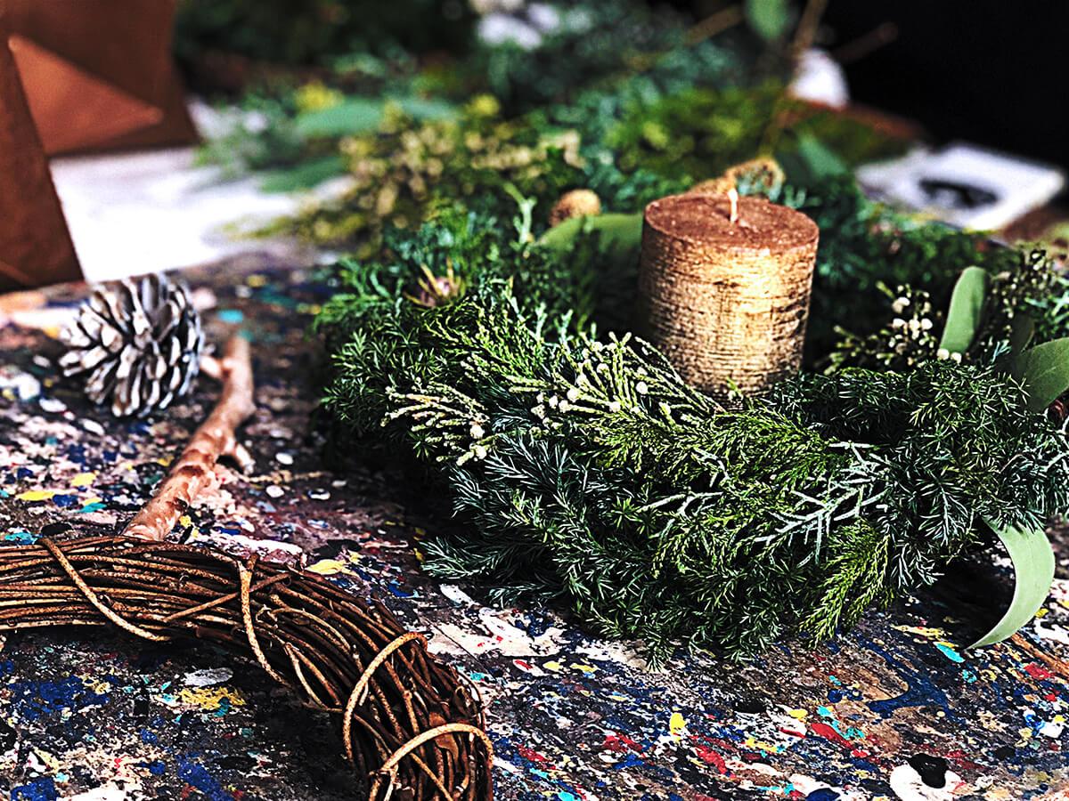 クリスマス・リースWORKSHOP@IID世田谷ものづくり学校 2018/11/18,12/2