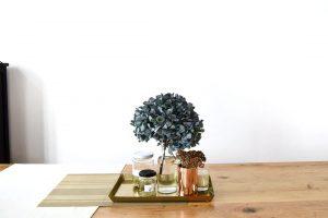 紫陽花(あじさい)で作る洗練されたドライリース@西麻布オフィス 2019/06/23