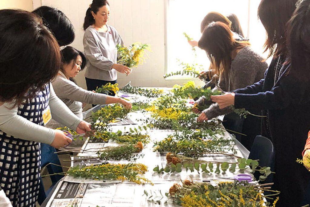 春をお迎え『ミモザのリース&スワッグ』のワークショップ @港区,世田谷区