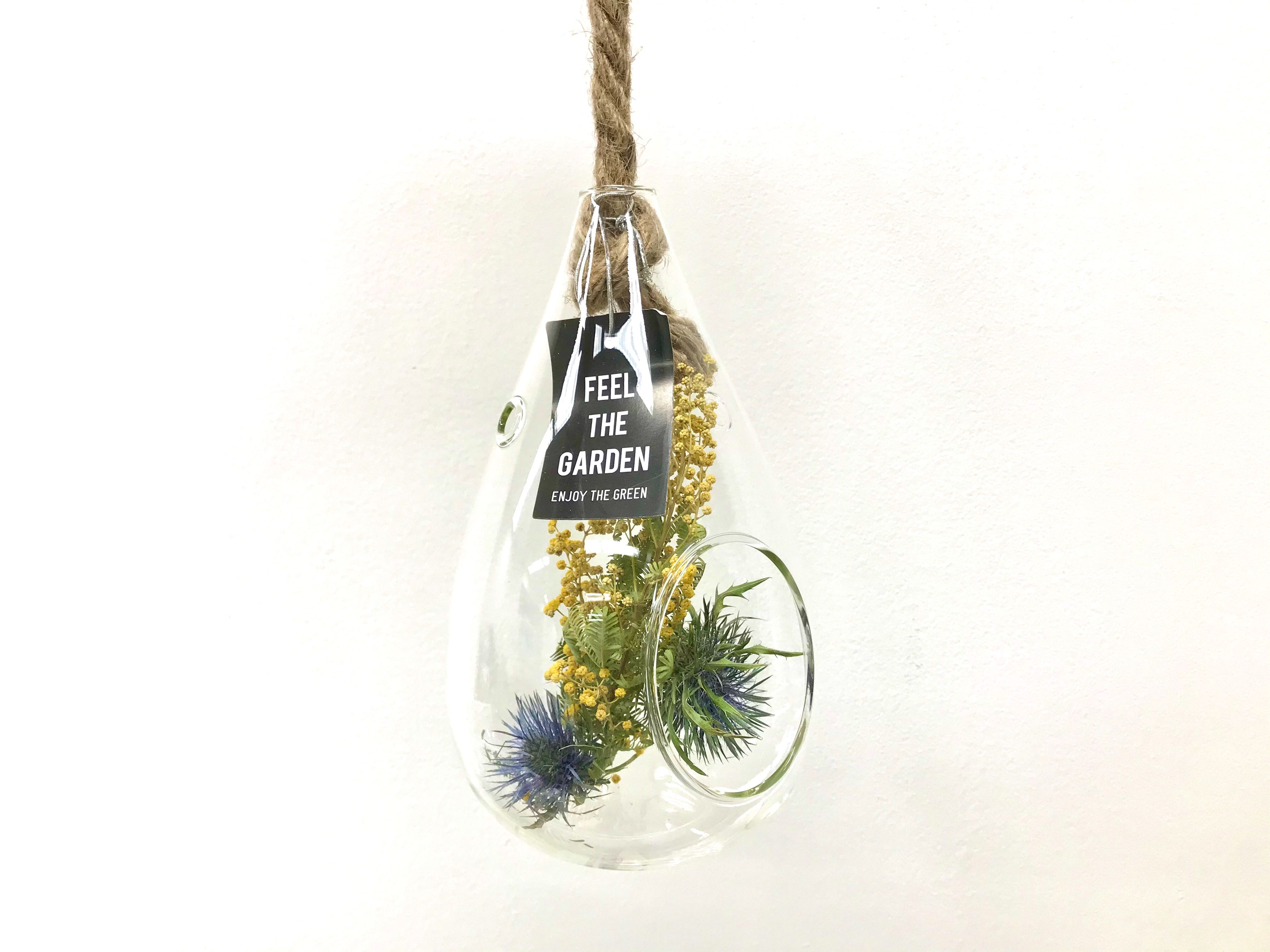 HANGING VASE WITH THE ROPE CLEAR (Sサイズ)